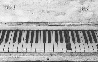 image: tatty old piano